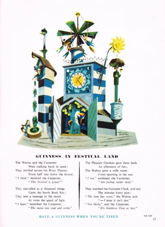 The Guinness clock with a poem.