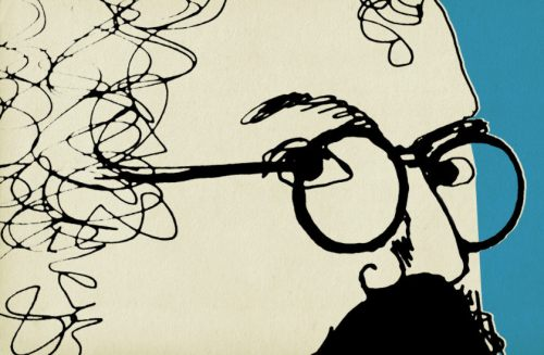 Illustration: Michael Jackson peers from behind his glasses.