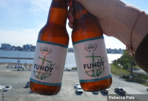 Bottles of Alexander Keith's 'Fundy'.