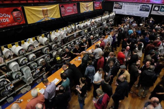 Beer festival crowd.