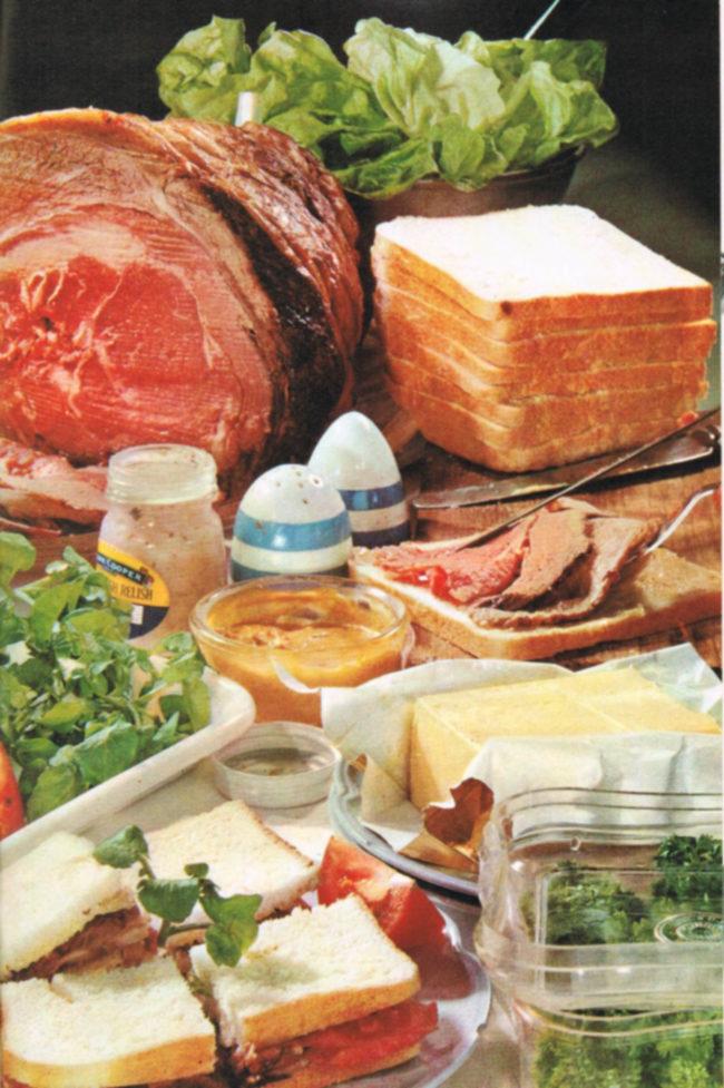 Still life: sandwich ingredients.
