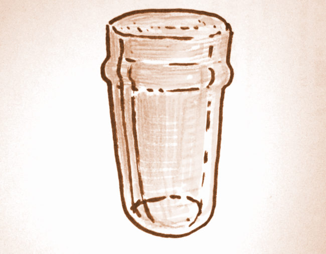 Illustration: a flat pint.
