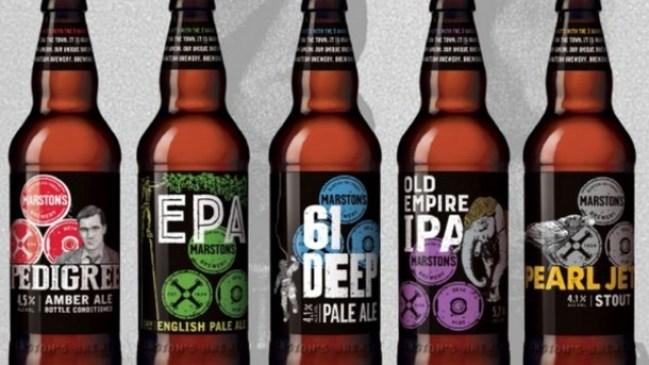 Marston's rebranded beer range.