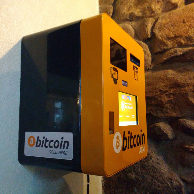 Bitcoin dispenser at the One & All.
