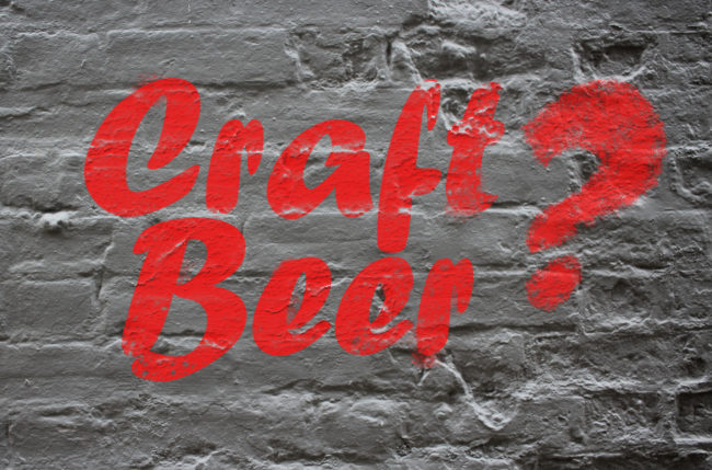 Graffiti illustration: CRAFT BEER?