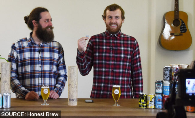 The founders of Honest Brew.