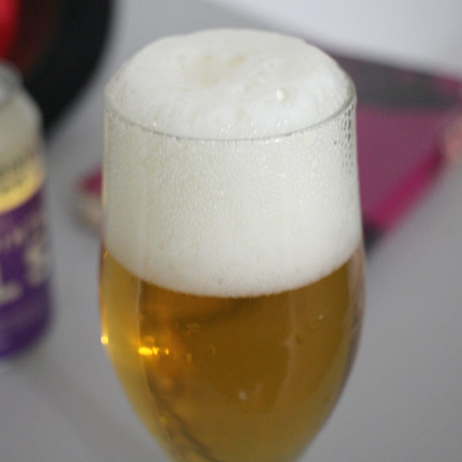 Five Points Pils in the glass.