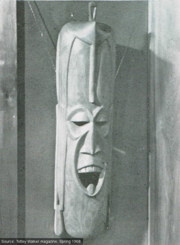 An African mask on a wall at The Ribbleton.