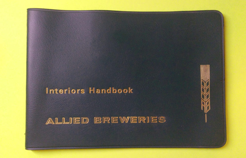 The cover of 'Allied Breweries Interiors Handbook'.