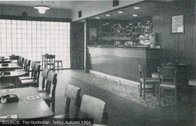 Public bar at the Earl Francis.
