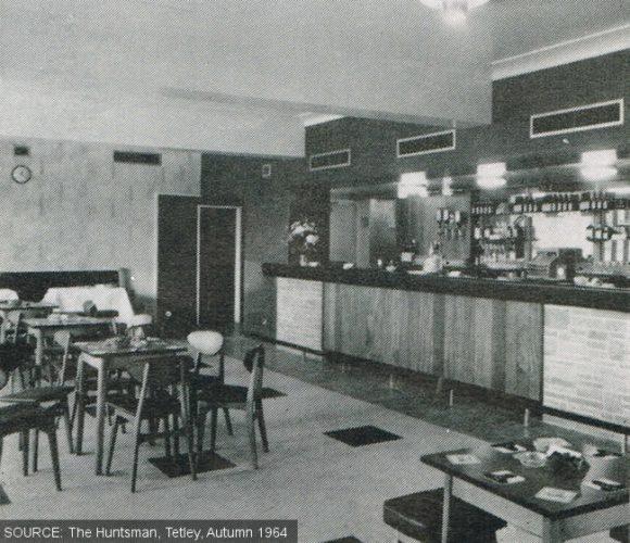 The public bar at The Ebor pub, Leeds, in 1964.