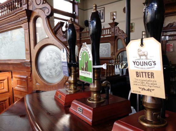 Beer pump for Young's Ordinary bitter.