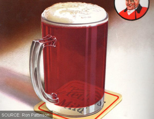 Detail from a vintage ad for Tetley mild.