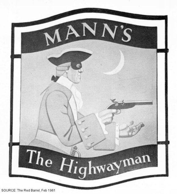 Pub sign: The Highwayman.