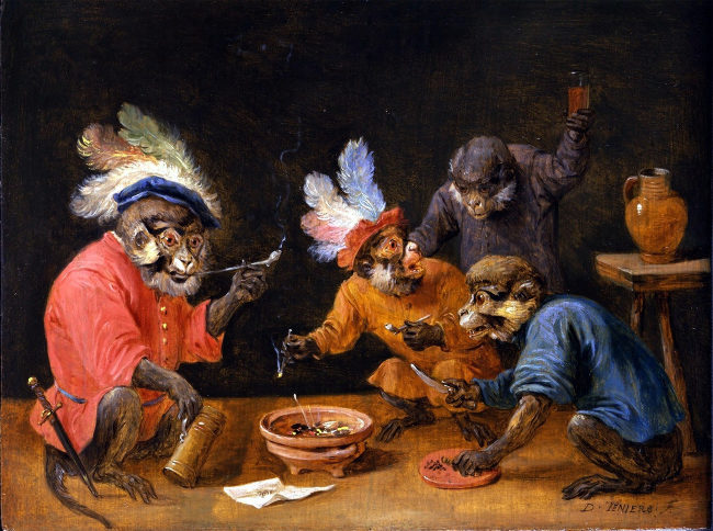 Drunk monkeys.