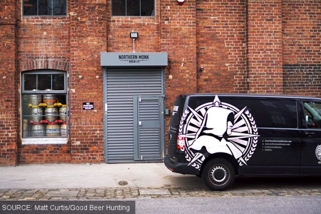 Northern Monk brewery with van parked outside.