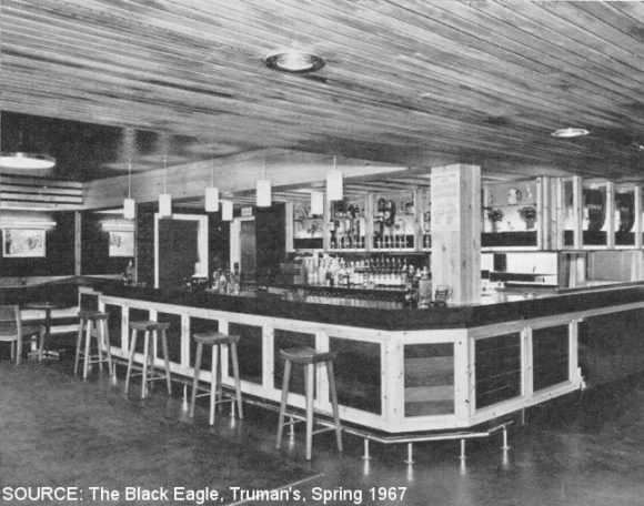 The interior of the Cottage Loaf with bar.