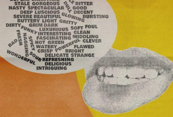"""Illustration: """"Criticism"""". (Mouth spouting critical jargon.)"""