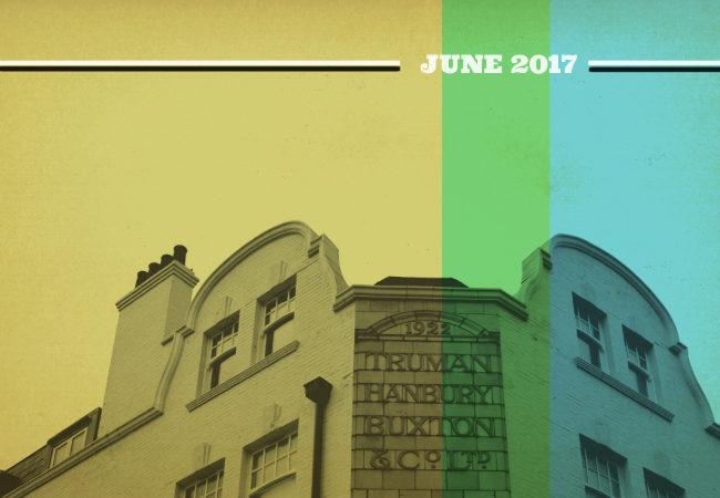 """Retro pub illustration: """"June 2017""""."""