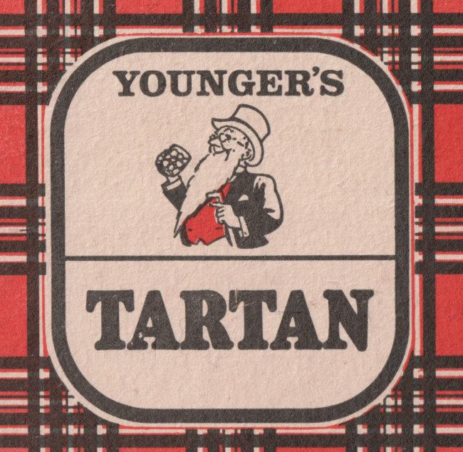 Younger's Tartan beer mat.