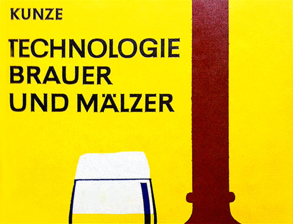 Detail from the cover of a German brewing textbook.