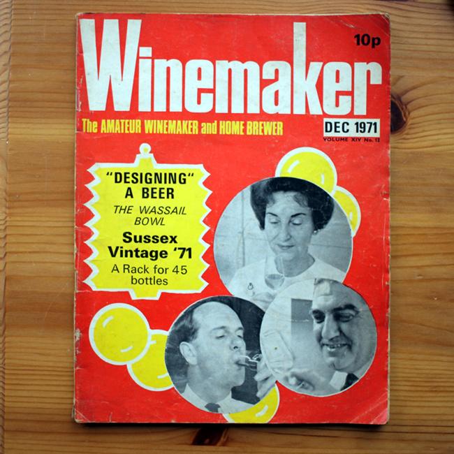 Amateur Winemaker, December 1971 -- bright orange cover design.