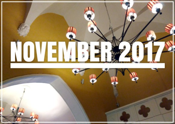 November 2017 (and the ceiling of a Bristol pub)