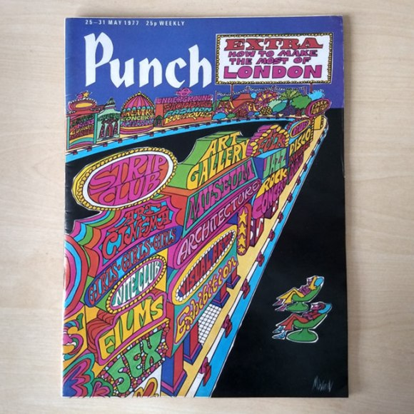 The cover of Punch for 25-31 May 1977.
