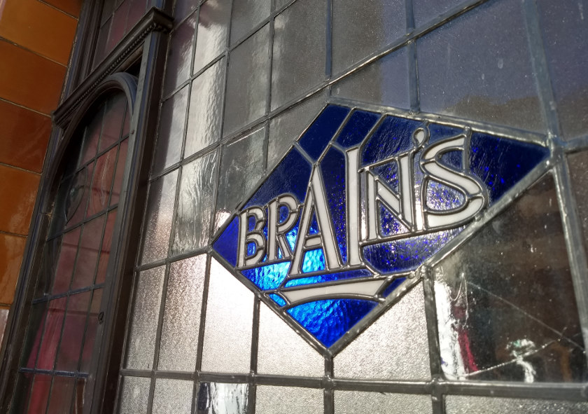 Brains stained glass, Cardiff.