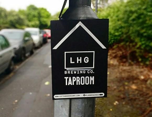 Left-handed Giant taproom sign.