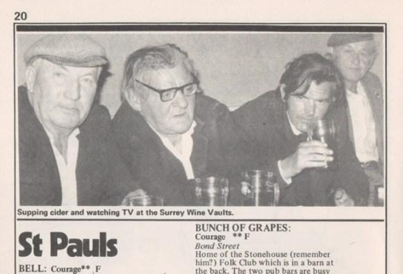 Drinkers at a Bristol pub.