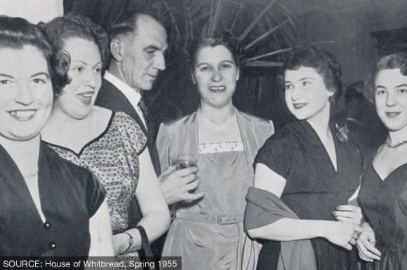 Women in evening dress.