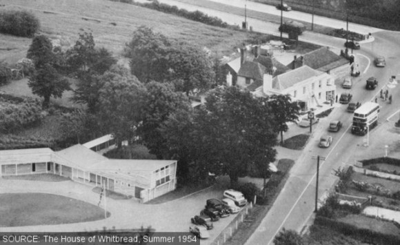 Aerial view of the Inn and Motel.