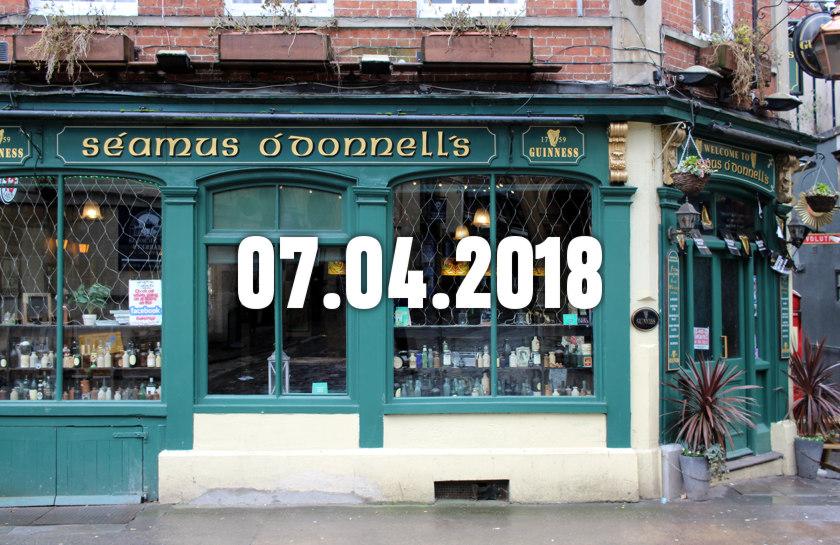 Seamus O'Donnell's pub in Bristol.