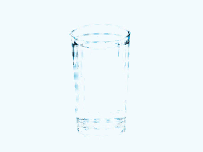 Low resolution image of a glass of water.