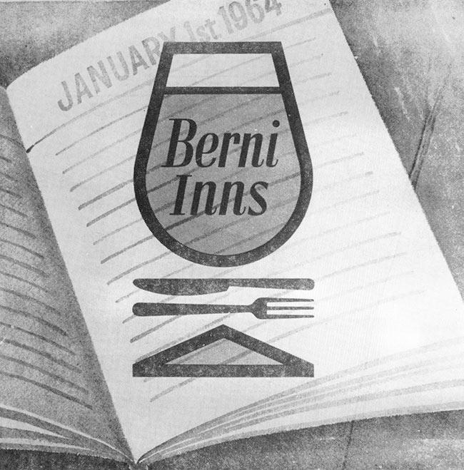 Berni Inns logo, 1964.
