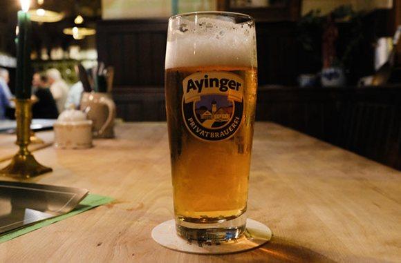 Ayinger Helles beer.