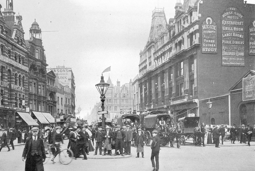 Tottenham Court road from the south.