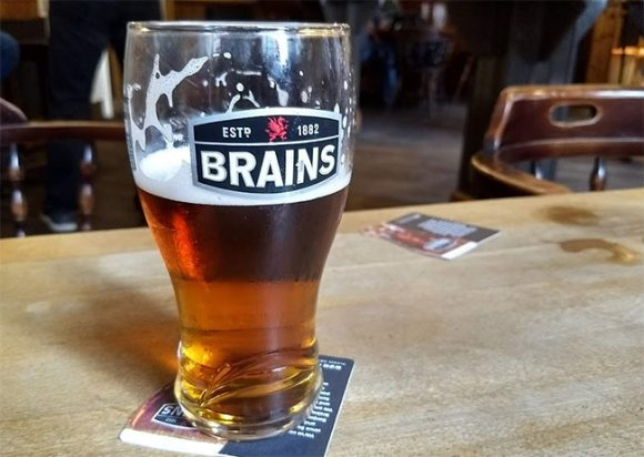 Brains bitter at the City Arms, Cardiff.