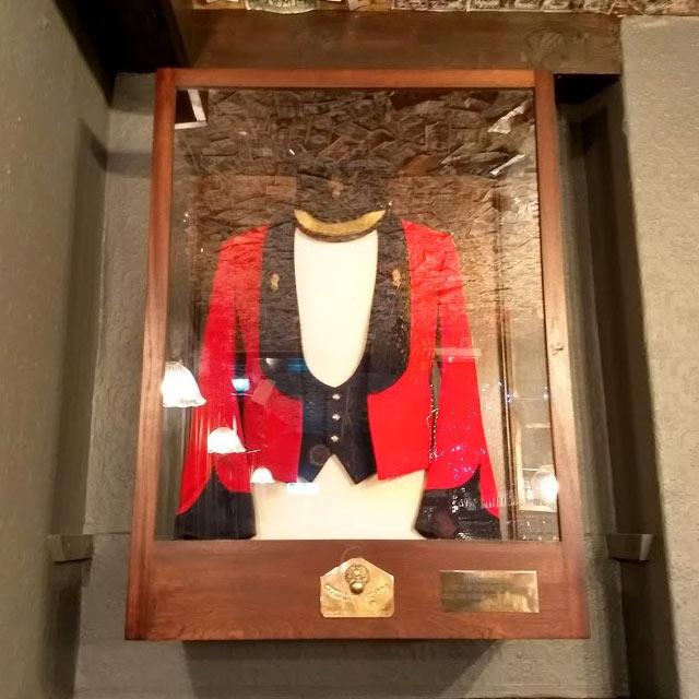 A military jacket at the Grenadier.