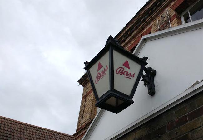 A Bass pale ale advertising lantern.