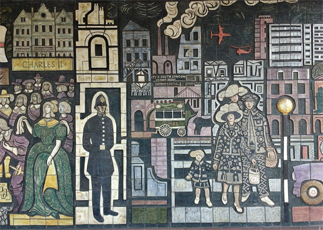 A mural in south London.