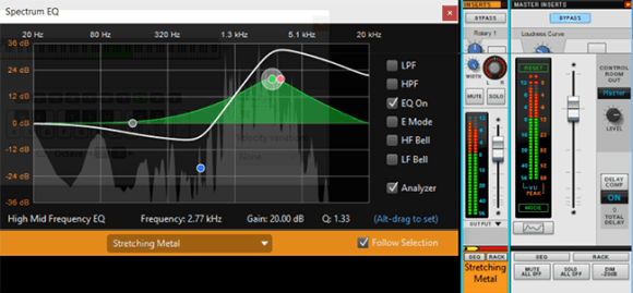 An EQ meter.