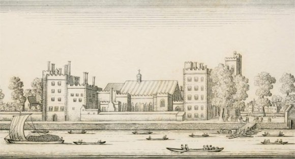 Old engraving of Lambeth Palace.