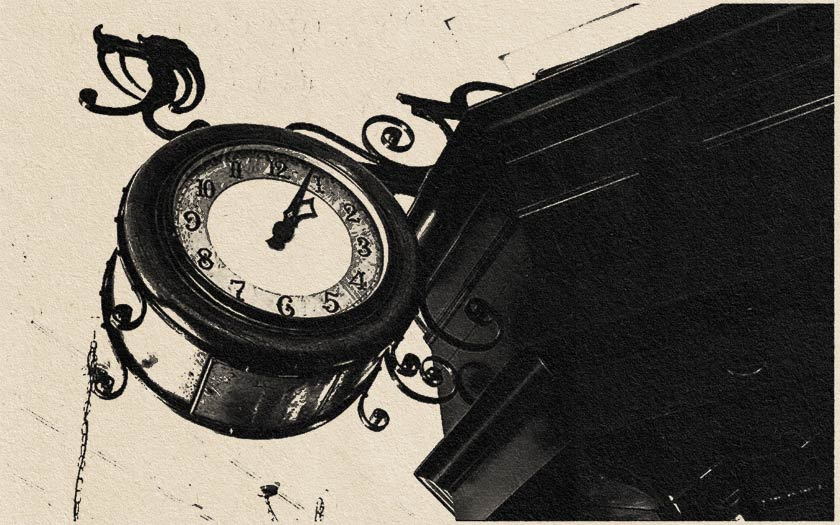 A pub clock.