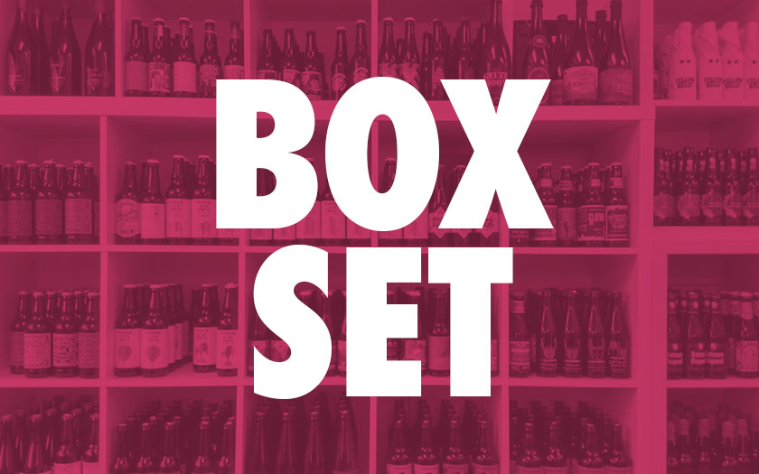 Box Set: shelves full of beer.
