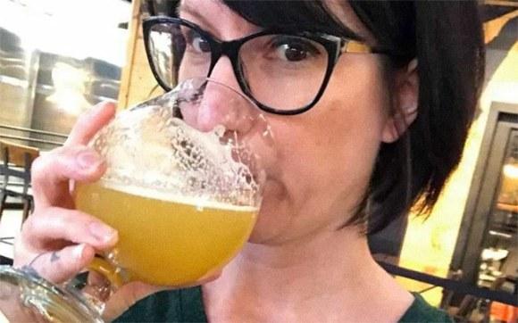 Chelsie's last beer.