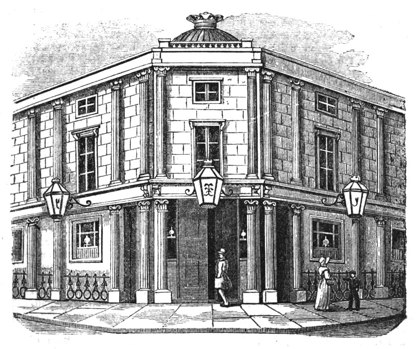 Exterior of a gin palace.