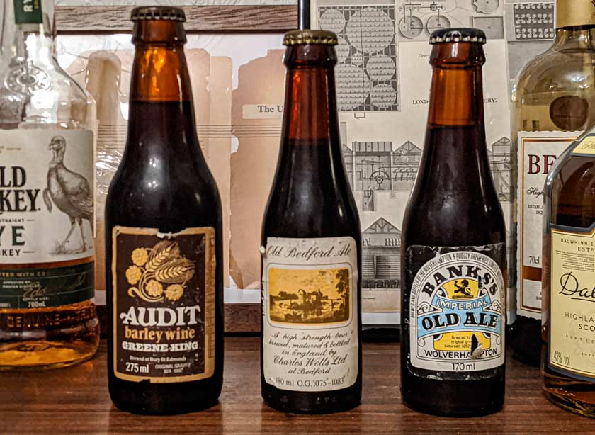 Beers salvaged from the junk shop shelf