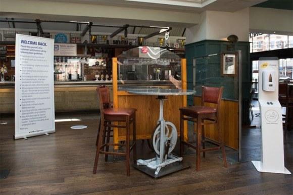 COVID-ready Wetherspoon pub.